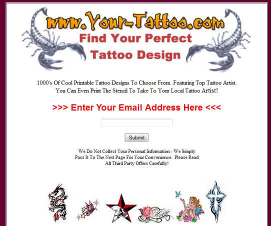 clickbank tattoo website