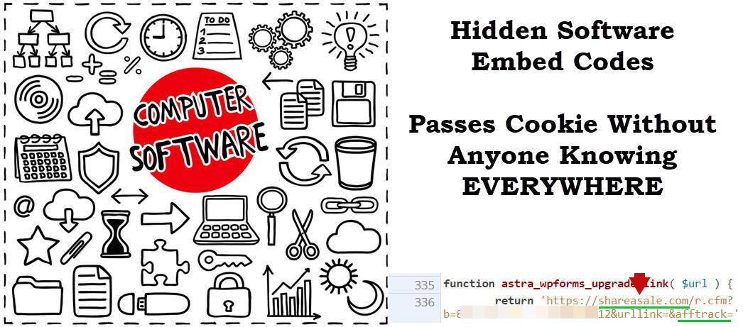 hidden affiliate codes in software